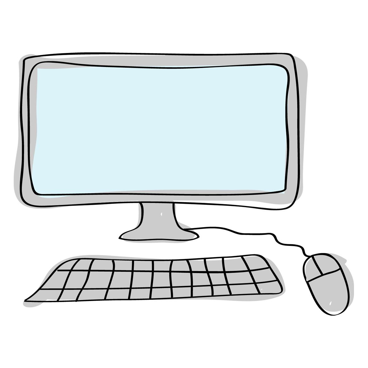 il·lustració d'un ordinador